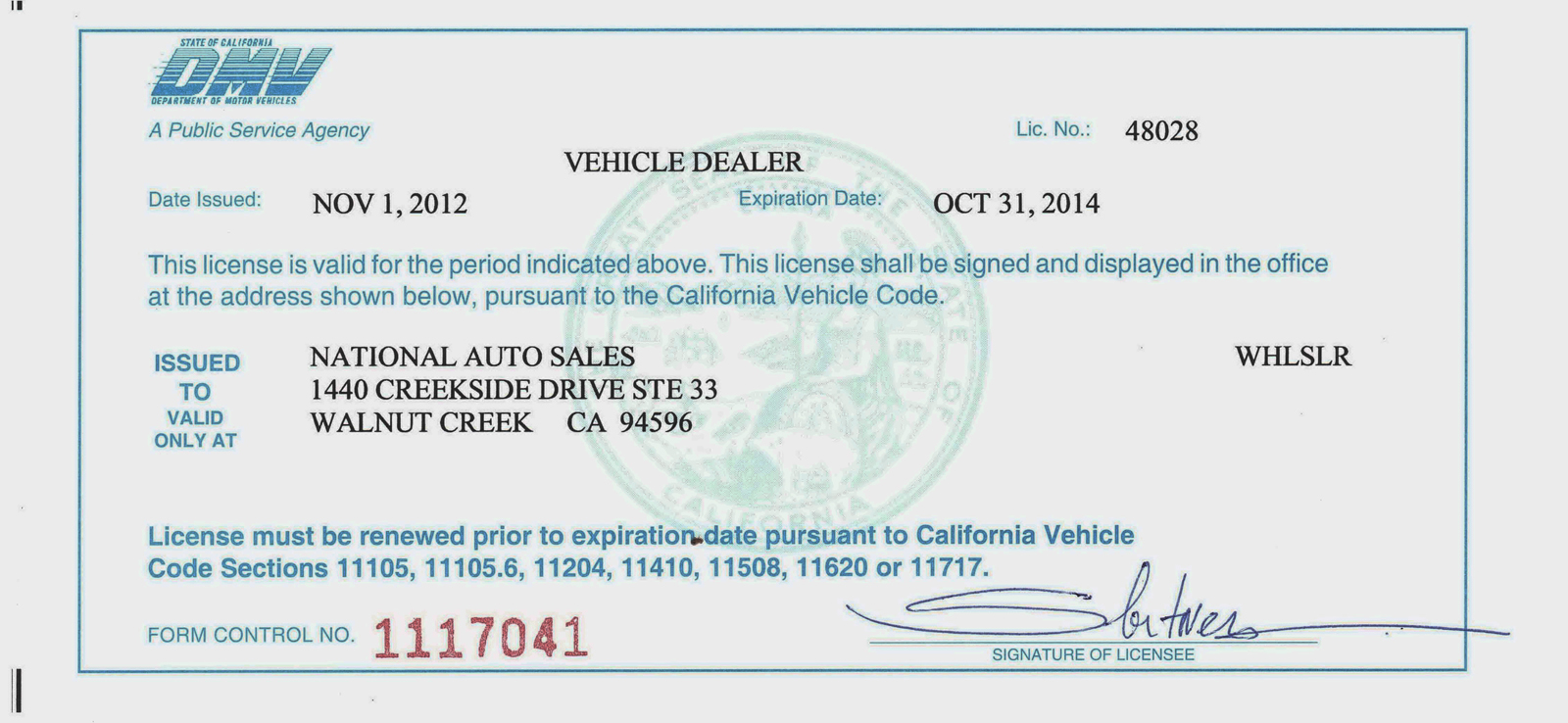 Wholesale Car Dealership License